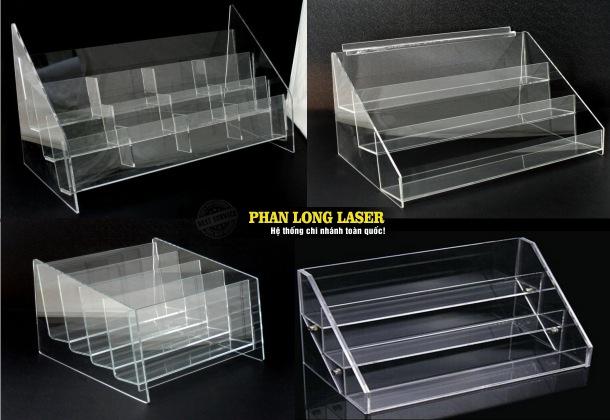 Kệ mica cất tài liệu, kệ nhựa acrylic dùng để trưng bày sản phẩm cho khách hàng tại Sài Gòn, Đà Nẵng, Hà Nội và Cần Thơ