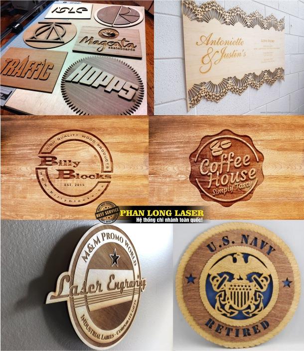 Làm biển quảng cáo bằng gỗ, cắt chữ gỗ, khắc bảng quảng cáo laser theo yêu cầu ở Hà Nội