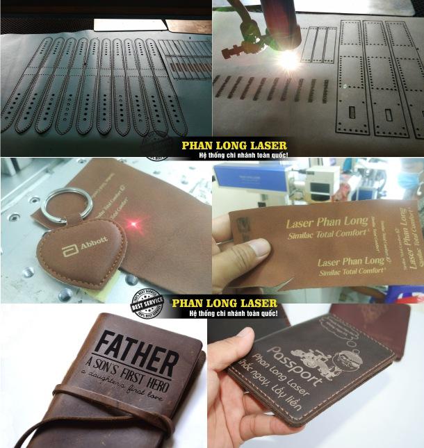 Cắt Da, Khắc Da theo yêu cầu bằng máy laser tại Xưởng Phan Long