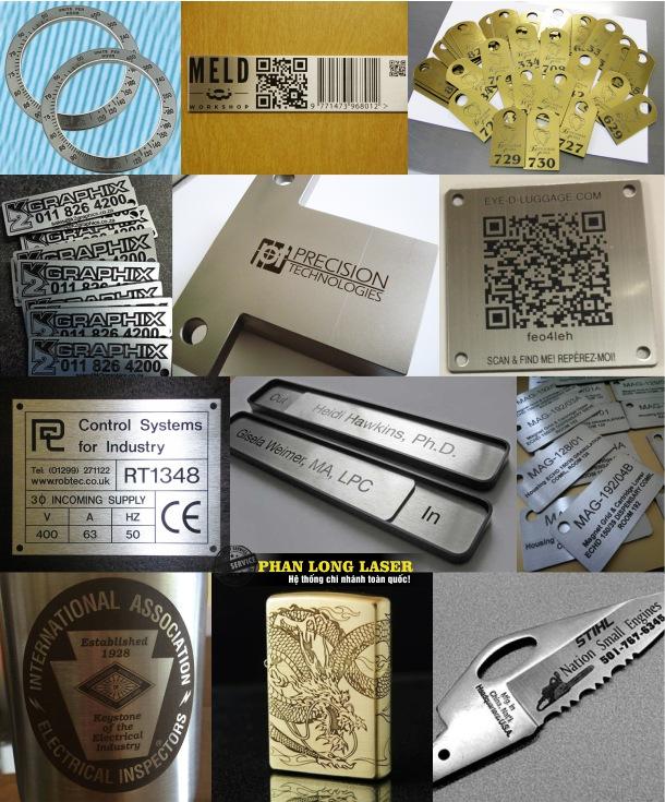 Xưởng khắc thông số, khắc logo thương hiệu lên tem nhãn mác kim loại ở Hà Nội