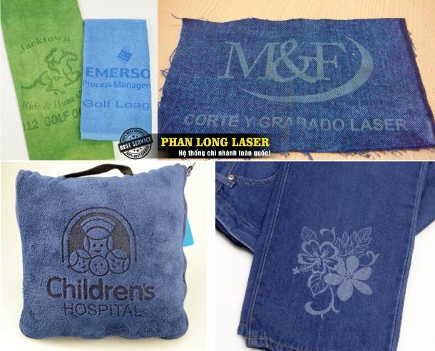 Khắc logo, khắc chữ, khắc hình ảnh bằng laser lên Vải ở Hà Nội