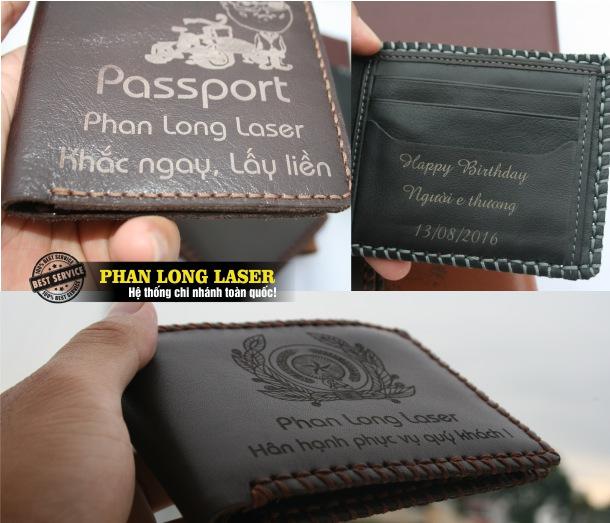 Khắc tên lên ví da bằng máy laser tại Sài Gòn Hà Nội Đà Nẵng Cần Thơ