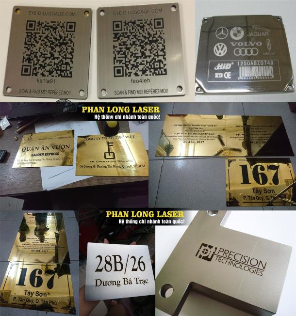 Khắc logo hoa văn, khắc mã CQ, QR, Khắc mã vạch, khắc thông số kỹ thuật lên Inox ở Hà Nội