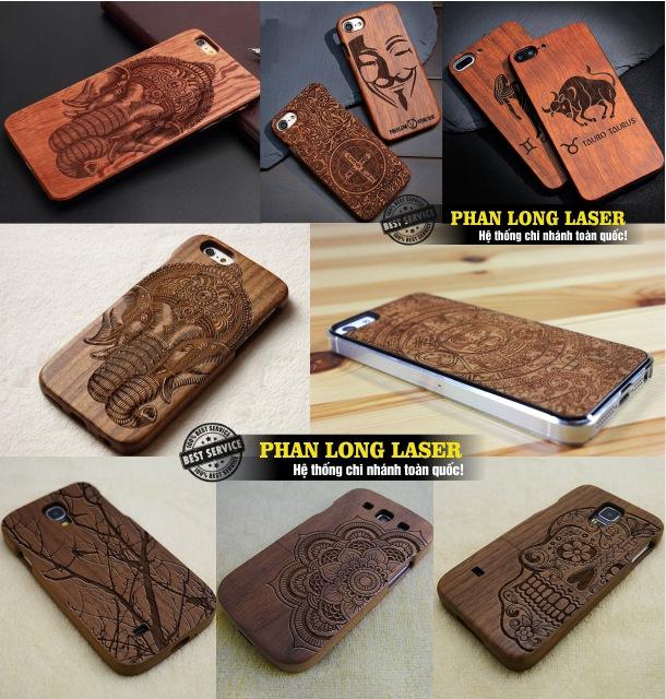 Địa chỉ cơ sở chuyên nhận khắc laser lên thân vỏ ốp lưng nắp lưng điện thoại gỗ ở Hà Nội