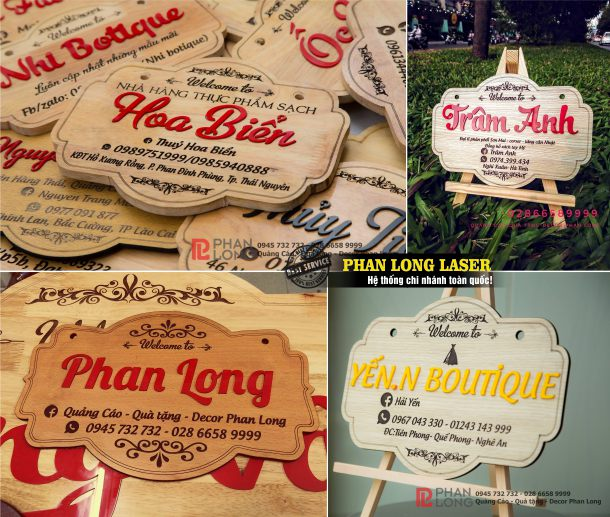 Công ty nhận làm biển bảng gỗ mica cho shop dùng làm đạo cụ chụp hình tại Tphcm Sài Gòn, Hà Nội, Đà Nẵng và Cần Thơ