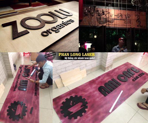 Địa chỉ công ty chuyên nhận làm biển bảng hiệu quán ăn nhà hàng quán cafe, shop thời trang, cửa tiệm