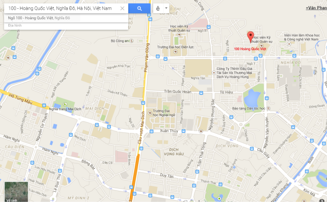 Bản đồ hướng dẫn đường đi đến xưởng khắc laser tại Hà Nội