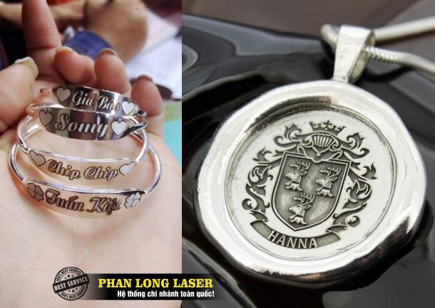 Khắc laser lên dây chuyền bằng bạc theo yêu cầu tại Sài Gòn, Đà Nẵng, Hà Nội