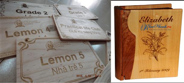 Khắc laser trên gỗ tại Cầu Giấy Hà Nội