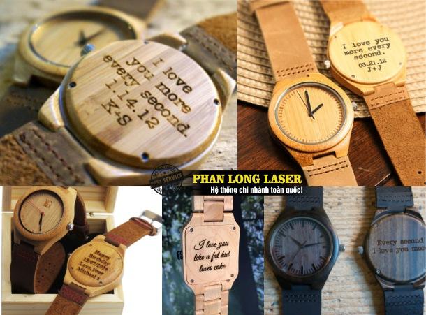 Điêu khắc logo, hoa văn khắc tên lên đồng hồ đeo tay giá rẻ