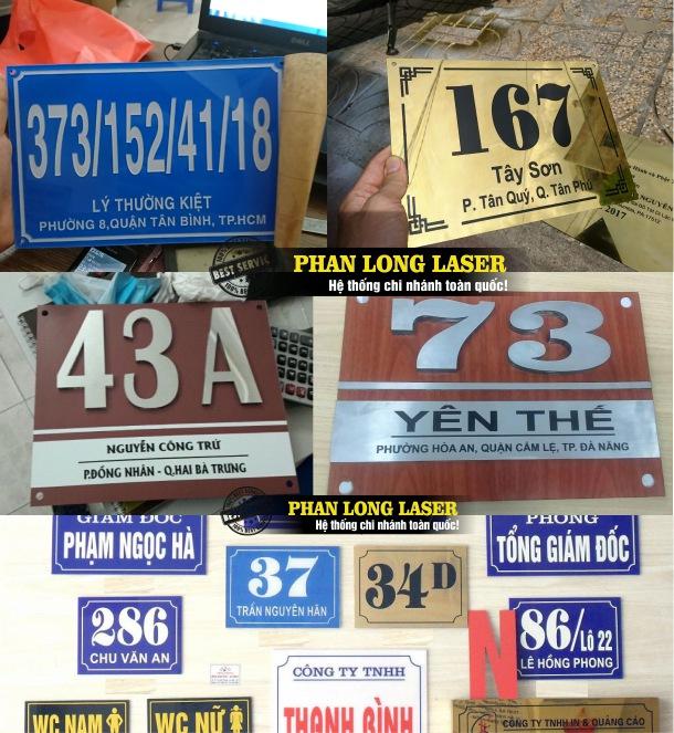 Làm biển số nhà ở đâu? Làm biển số nhà tại Tp Hồ Chí Minh, Sài Gòn, Hà Nội, Đà Nẵng và Cần Thơ