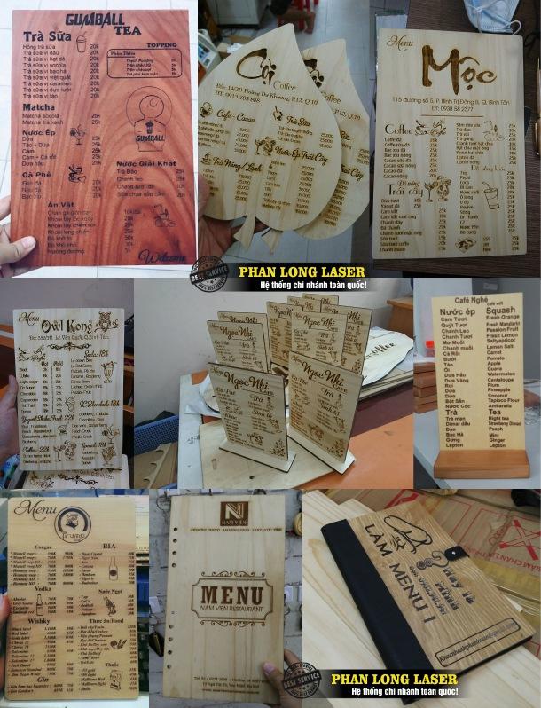 Làm menu bằng gỗ ở đâu? Làm Menu bìa gỗ có đẹp không? Giá làm menu bằng gỗ bao nhiêu?