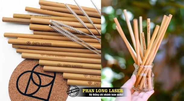 Cơ sở nhận in khắc laze lên ống hút tre nứa tại Tp Hồ Chí Minh, Sài Gòn, Hà Nội, Đà Nẵng và Cần Thơ