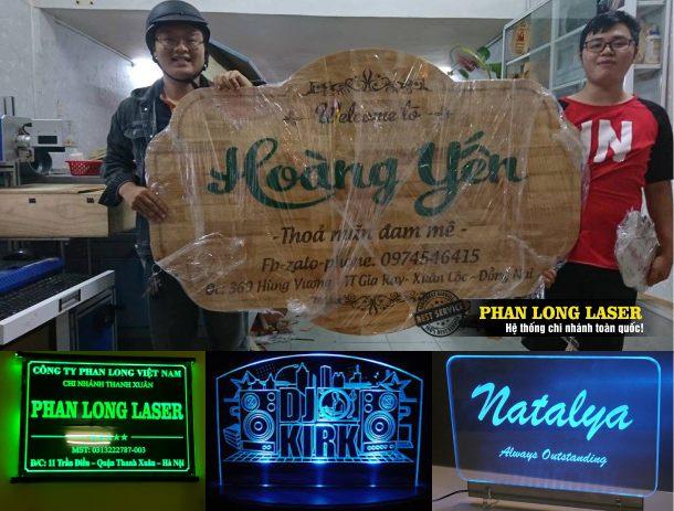 Địa chỉ làm biển bảng hiệu quảng cáo gỗ mica cho khách hàng tại Tphcm Sài Gòn, Hà Nội, Đà Nẵng và Cần Thơ