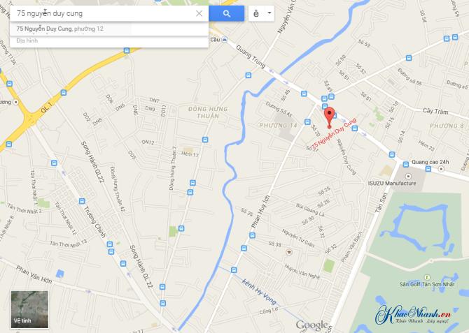 Bản đồ hướng dẫn đường đi đến xưởng khắc laser tại Gò Vấp TpHCM
