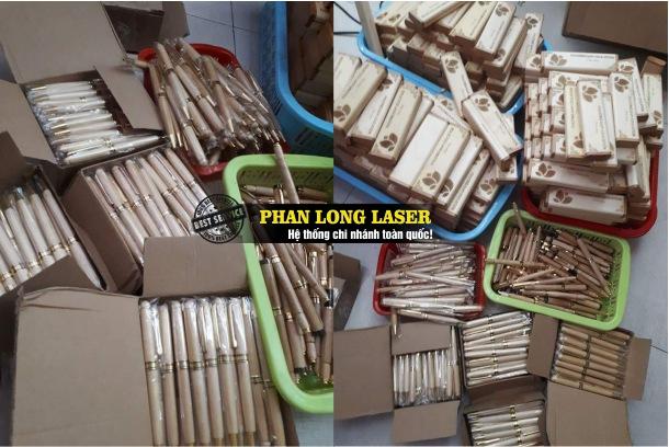 Bút gỗ khắc chữ, bút gỗ khắc hoa văn logo theo yêu cầu tại Sài Gòn, Đà Nẵng, Hà Nội