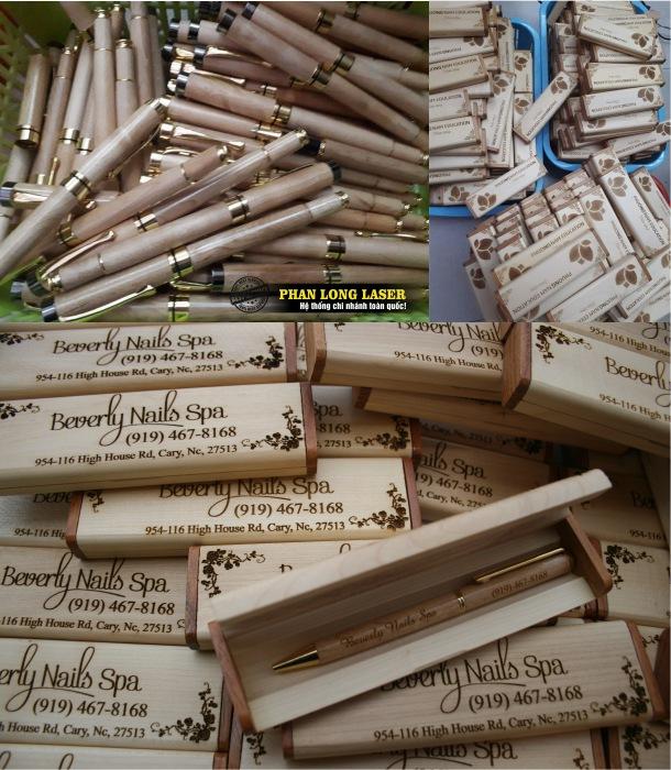 Địa chỉ Bán Bút gỗ khắc laser theo yêu cầu giá rẻ