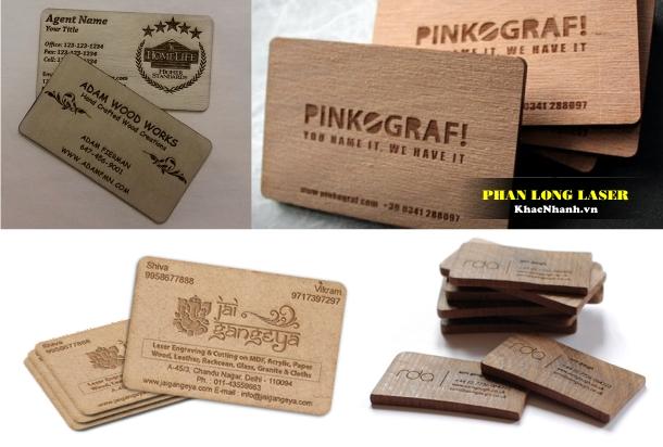Công ty Làm Name card, Card Visit, danh thiếp bằng gỗ tại Cầu Giấy Thanh Xuân Hà Nội