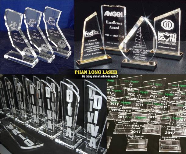 Công ty nhận thiết kế làm biểu trưng mica, cúp nhựa acrylic giá rẻ tại Tp Hồ Chí Minh, Hà Nội, Đà Nẵng và Cần Thơ