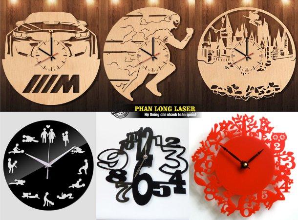 Xưởng gia công nhận làm đồng hồ gỗ, làm đồng hồ mica theo yêu cầu giá rẻ lấy ngay lấy liền