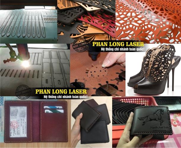 Địa chỉ Xưởng Cắt Laser trên Da bò, Da cá sấu, Giả Da, Da nhân tạo, cắt tạo hình trên da tại Quận 5 Sài Gòn