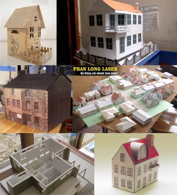 Địa chỉ Cắt mô hình giấy bằng laser giá rẻ tại Sài Gòn, Đà Nẵng, Cần Thơ, Hà Nội