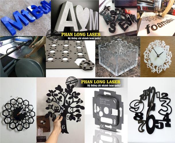 Cơ sở nhận Cắt chữ Nhựa, Cắt chữ mica, Cắt laser trên nhựa mica, đục lỗ trên nhựa mica tại Quận 5 Sài Gòn