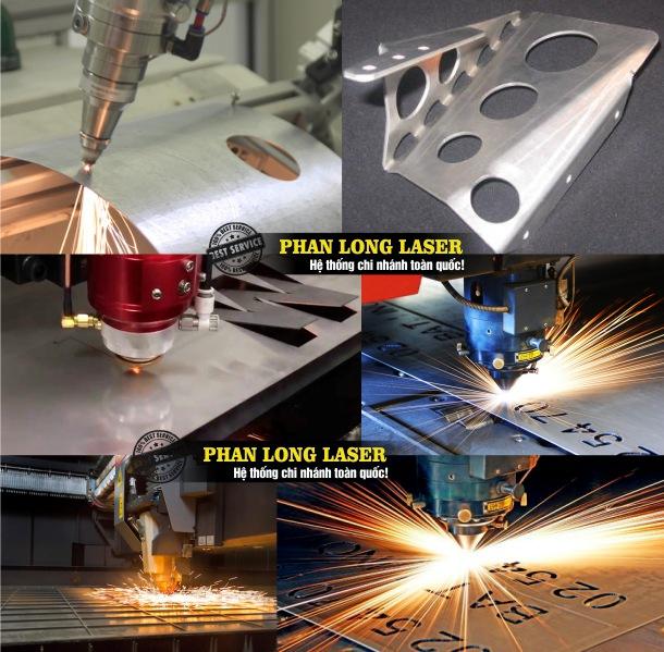 Cắt kim loại inox đồng nhôm sắt thép bằng máy laser fiber tại Xưởng Phan Long Laser
