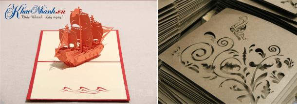 Nhận cắt giấy bằng laser tại Hà Nội