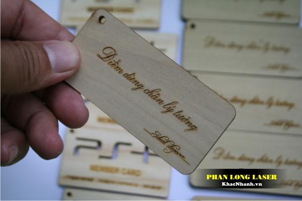 Sản Xuất Name Card, Card visit, Danh thiếp bằng gỗ Lấy Liền