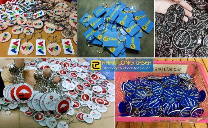 Sản xuất móc khóa mica acrylic tại xưởng Phan Long Laser Hà Nội