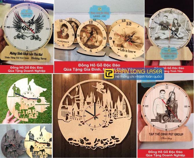 Sản xuất đồng hồ gỗ theo yêu cầu lấy liền giá rẻ