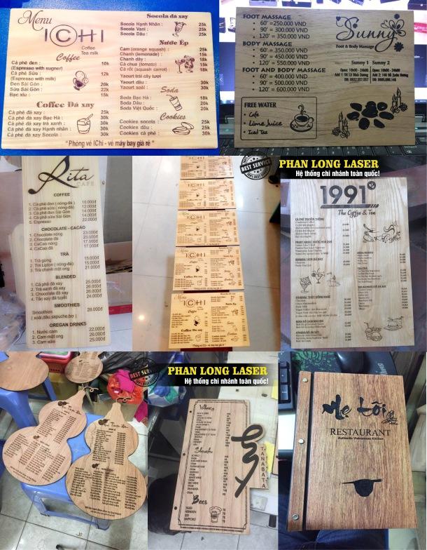 Cơ sở chuyên nhận thiết kế và làm menu bằng gỗ và menu bằng mica giá rẻ nhất tại Đà Nẵng