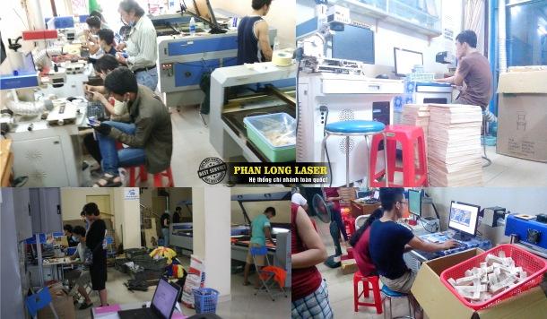 Xưởng Phan Long Laser tại Tp Hồ Chí Minh, Hà Nội, Đà Nẵng và Cần Thơ