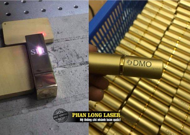 Báo giá dịch vụ in laser, khắc laser, in chữ in tên, khắc chữ khắc tên lên thân vỏ thỏi son môi