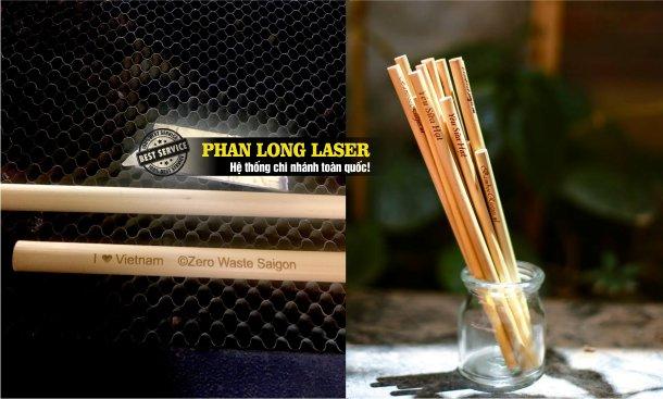 In khắc logo hoa văn in khắc tên khắc chữ lên ống hút tre nứa gỗ tại Tphcm Sài Gòn, Hà Nội, Đà Nẵng và Cần Thơ