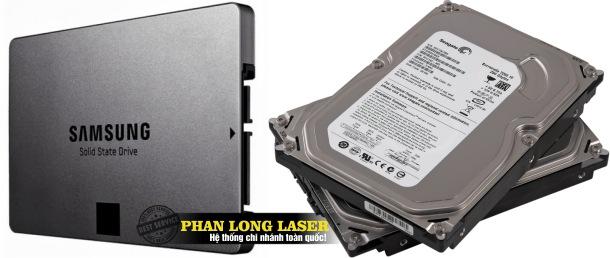 Địa chỉ Khắc logo, khắc thông số kỹ thuật, khắc mã vạch lên ổ cứng SSD và HDD theo yêu cầu