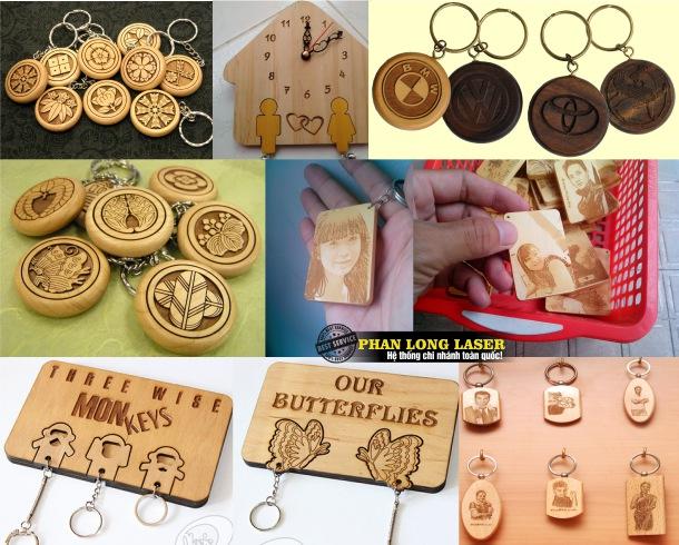 Địa chỉ công ty nhận khắc laser lên sản phẩm móc khóa gỗ ở Hà nội