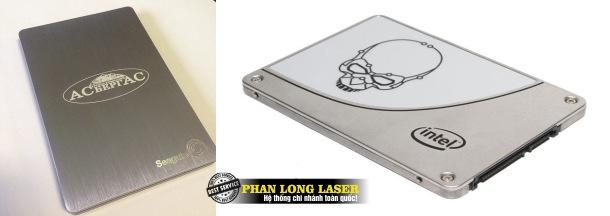 Khắc Laser lên ổ cứng SSD, HDD theo yêu cầu