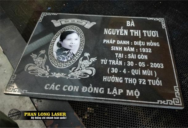 Địa chỉ khắc đá bia mộ bằng máy laser cnc tại Tphcm Sài Gòn, Hà Nội, Đà Nẵng và Cần Thơ