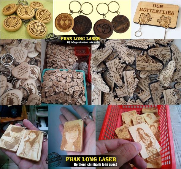 Móc khóa gỗ khắc chữ, khắc hình ảnh, khắc chân dung theo yêu cầu tại Hà Nội