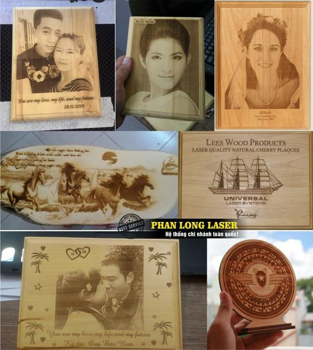 Địa chỉ khắc hình ảnh chân dung hoa văn logo lên gỗ theo yêu cầu giá rẻ tại Sài Gòn, Hà Nội, Đà Nẵng, Cần Thơ
