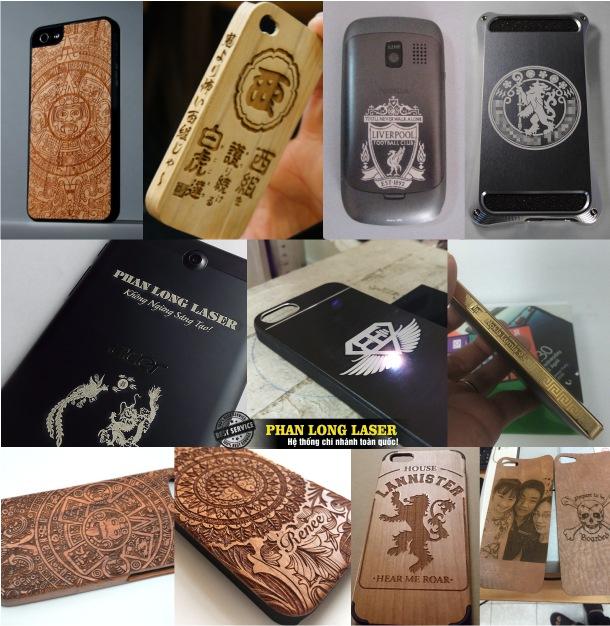 Khắc logo, khắc hoa văn, khắc thư pháp, khắc hình ảnh, khắc chân dung lên điện thoại ở Hà Nội