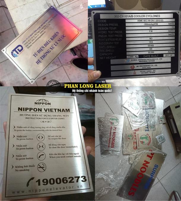 Địa chỉ xưởng gia công cắt khắc laser theo yêu cầu lên các sản phẩm tem nhãn mác giá rẻ trên toàn quốc