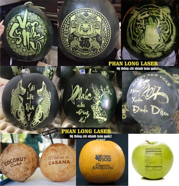 Xưởng gia công khắc laser theo yêu cầu lên trái cây hoa quả tại Tphcm Sài Gòn, Đà Nẵng, Hà Nội và Cần Thơ