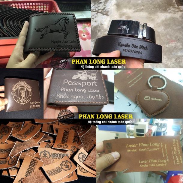 Địa chỉ chuyên nhận khắc laser theo yêu cầu lên các sản phẩm đồ da tại Hà Nội