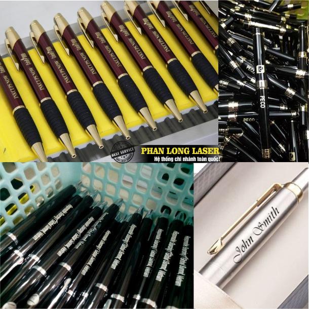 Khắc laser lên bút quà tặng, khắc laser lên bút quảng cáo tại Hà Nội