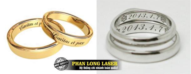 Khắc chữ khắc tên khắc logo hoa văn theo yêu cầu lên nhẫn cưới nhẫn vàng nhẫn bạc, nhẫn quà tặng lấy ngay lấy liền giá cực rẻ