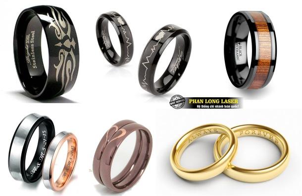 Khắc nhẫn vàng, khắc nhẫn bạc, khắc nhẫn inox, khắc nhẫn cưới bằng máy laser theo yêu cầu