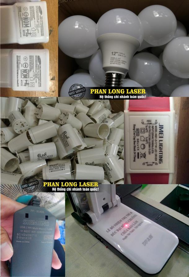 Xưởng phan long laser chuyên nhận khắc thông số kỹ thuật, khắc mã vạch, khắc logo lên nhựa theo yêu cầu